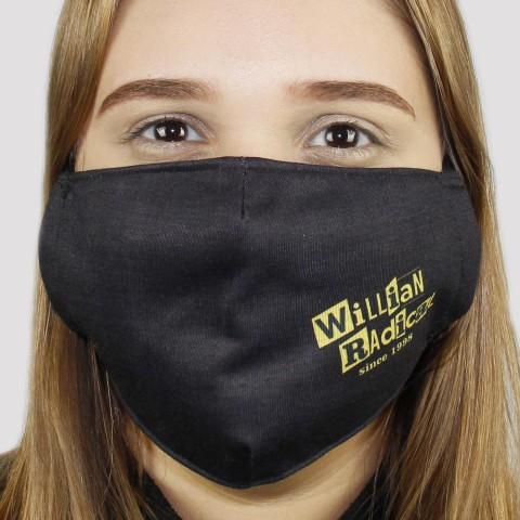 Máscara De Tecido Da Willian Radical Since 1998 - Preto/Amarelo
