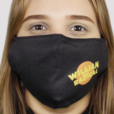 Máscara De Tecido Da Willian Radical Space Jam - Amarelo/Laranja