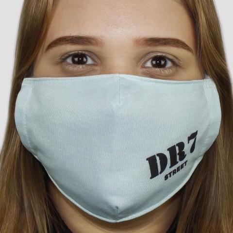 Máscara De Tecido DR7 Logo - Azul Bebê