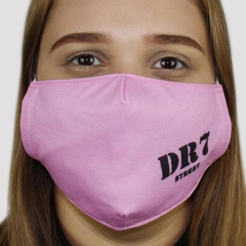 Máscara De Tecido DR7 Logo - Rosa