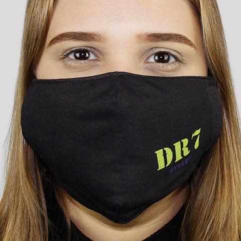 Máscara De Tecido DR7 Logo - Verde/Roxo