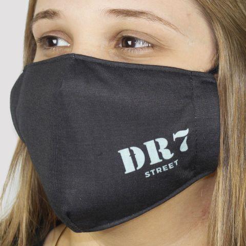 Máscara De Tecido DR7 Logo - Preto/Azul