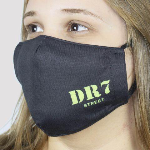 Máscara De Tecido DR7 Logo - Preto/Verde