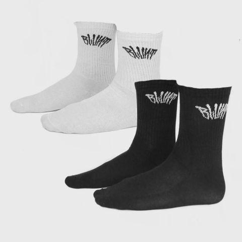 Meia Blunt Kit Com 2 Pares - Preto e Branco