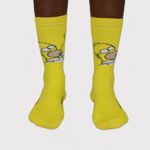 Meia DKS Homer - Amarelo/Branco