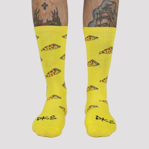 Meia DKS Pizza - Amarelo