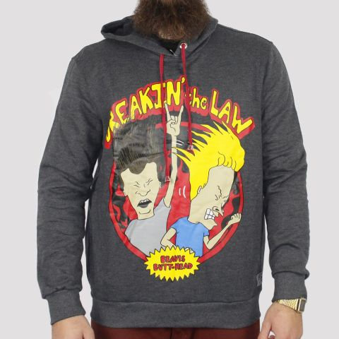 Moletom Chemical Canguru Beavis Butt Head - Cinza Escuro