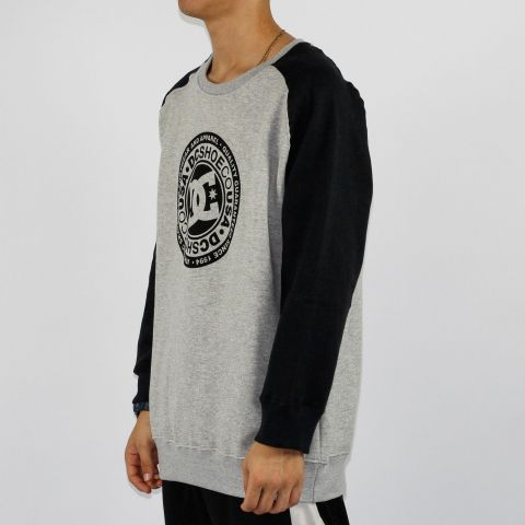 Moletom DC Shoes Circle Raglan Cinza/Preto