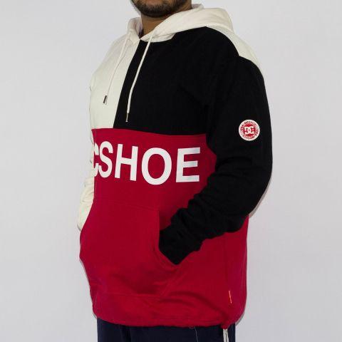 Moletom DC Shoes Hambledon Vermelho/Branco/Preto