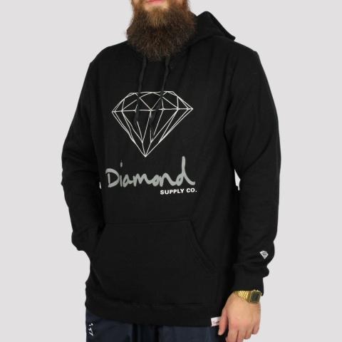 Moletom Diamond OG Sign - Black