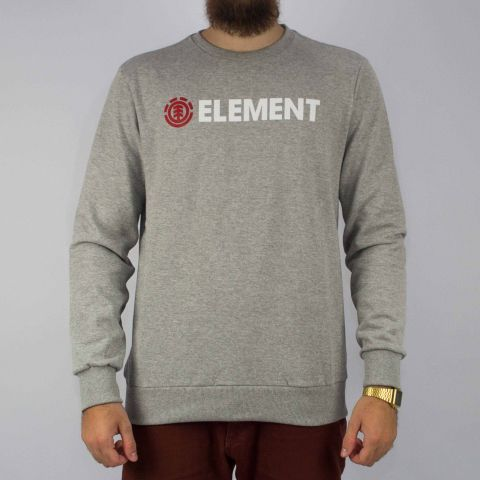 Moletom Element Basic Cinza Mescla