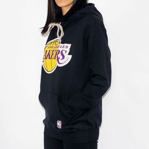 Moletom NBA Feminino Fechado Canguru Lakers Preto
