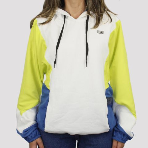Moletom Gringa Winds Hoodie Capuz - Off White/Azul