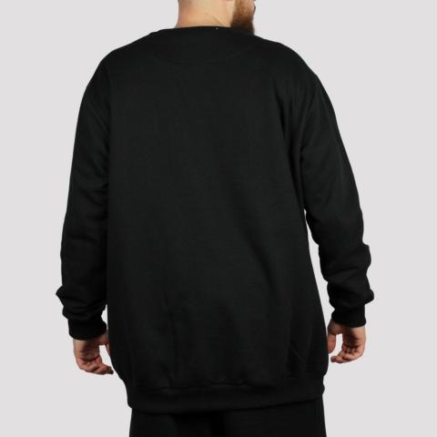 Moletom High Crewneck Bold - Black