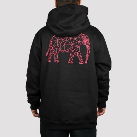Moletom Mezcla Elefante Geometric - Preto