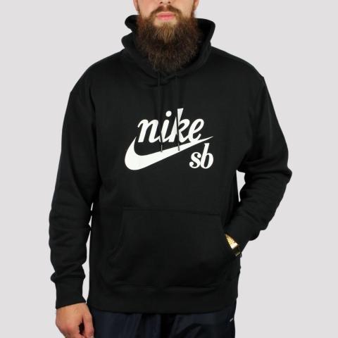 Moletom Nike SB Logo Retrô - Preto