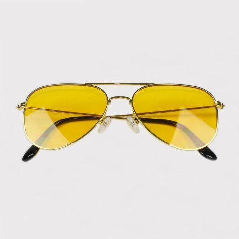 Óculos Festivo Aviador Amarelo
