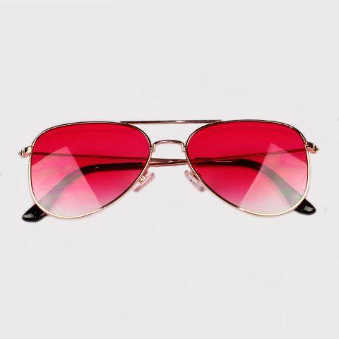 Óculos Festivo Aviador Rosa