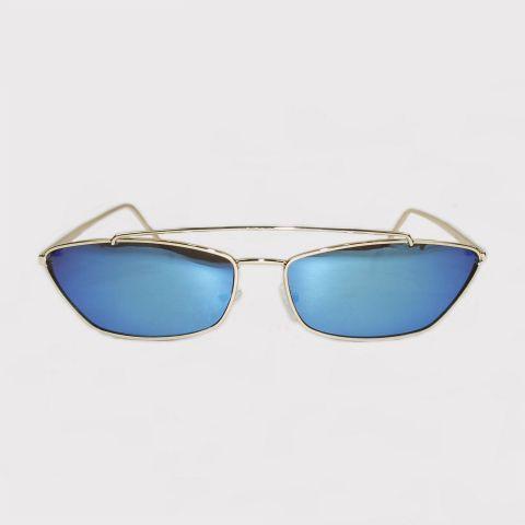 Óculos Festivo Retro Azul Espelhado