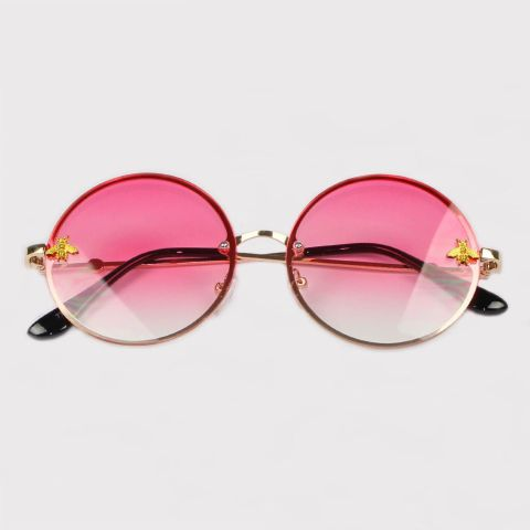 Óculos Festivo Round Rosa