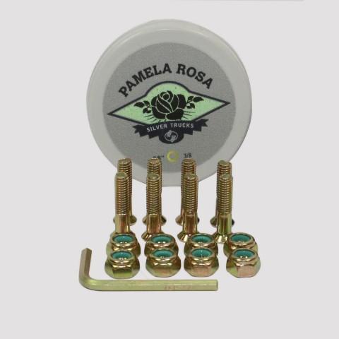Parafuso De Base Silver Pro Model Pamela Rosa - Dourado