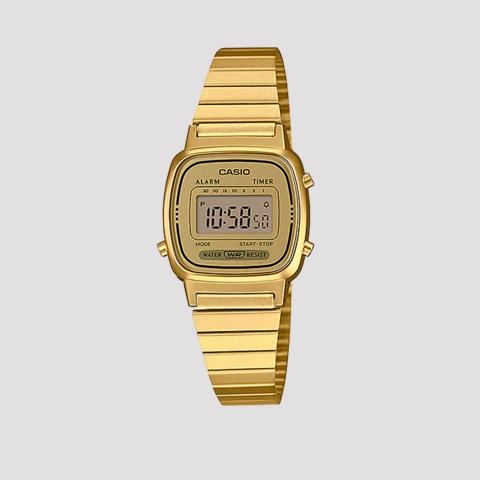 Relógio Casio Vintage Dourado LA670WGA-9DF-SC