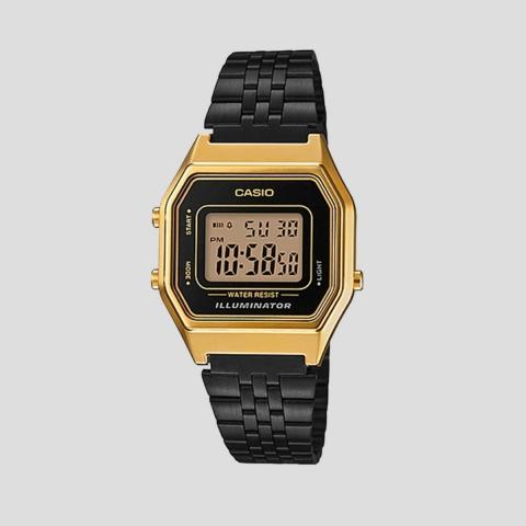 Relógio Casio Vintage Preto Dourado LA680WEGB-1ADF-SC