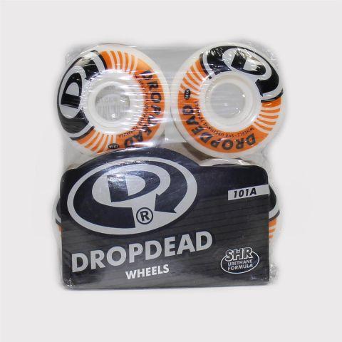 Roda Drop Dead Destroyer - Branco/Laranja/Preto