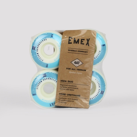 Roda Emex 53mm - Branca/Azul