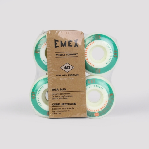 Roda Emex 53mm - Branca/Verde/Laranja