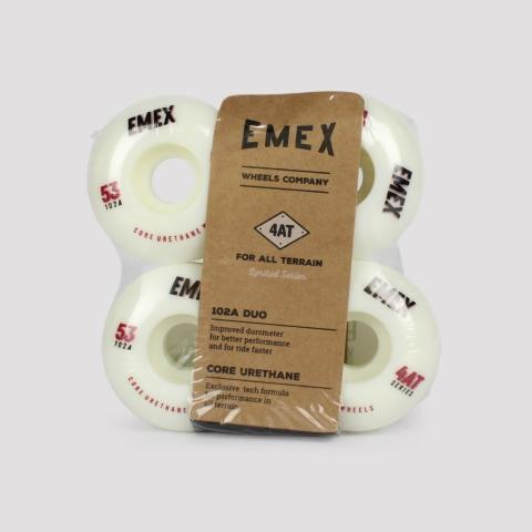 Roda Emex 53mm - Branco/ Preto