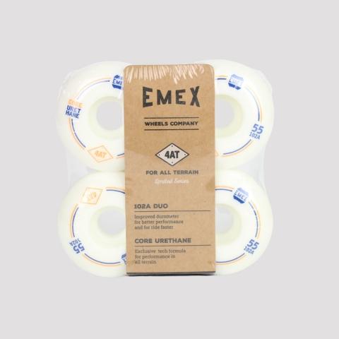Roda Emex 55mm - Branca/Azul/Laranja