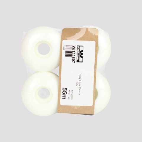 Roda Emex 55mm - Branca/Roxa/Preta