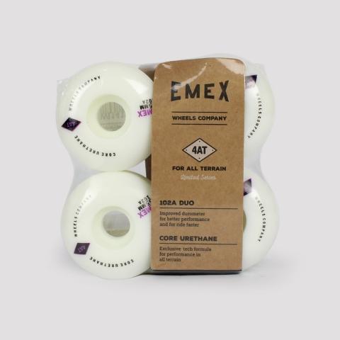 Roda Emex 55mm - Branco/ Roxo/ Preto