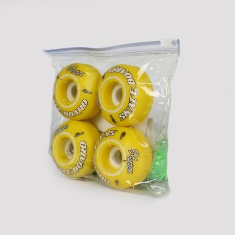 Roda Mentex 53 mm - Amarelo/Branco