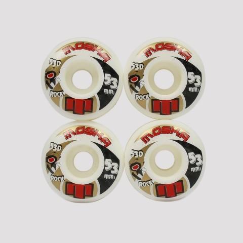 Roda Moska 53mm Rock - Branca