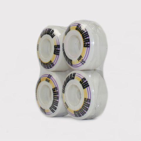 Roda Snoway 51mm - Branco/Faixa Rosa