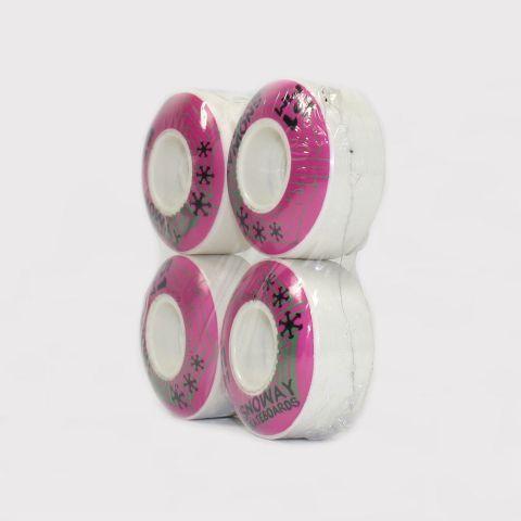 Roda Snoway 51mm - Branco/Rosa