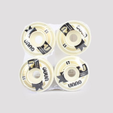 Roda Unno 53mm - Branco/ Cinza/ Preto