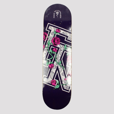 Shape Foton Skateboards Roses Marfim - Roxo