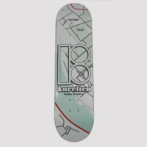 Shape Plan B Maple Pró Model Aurelien 8.0 - Preto/Verde Água