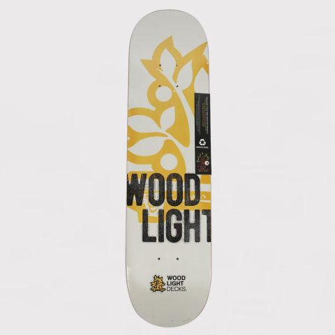 Shape Wood Light Fiberglass Logo - Branco/Amarelo