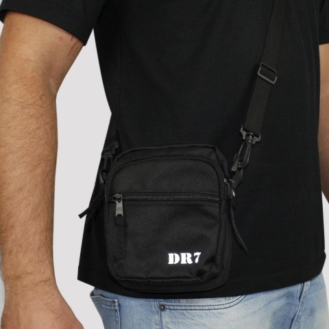 Shoulder Bag DR7 Street Bolso Duplo - Preta