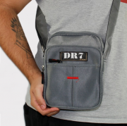 Shoulder Bag DR7 Street Cinza Claro