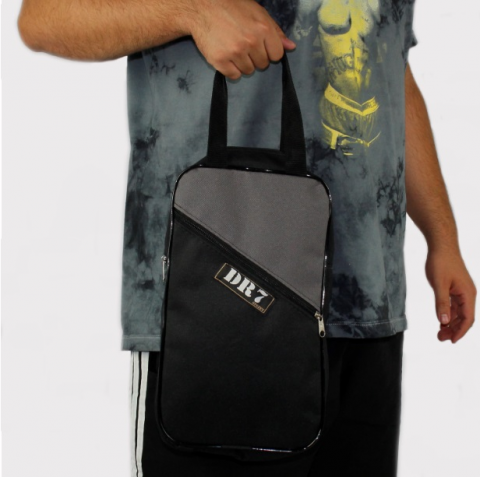 Shoulder Bag DR7 Street Multiuso Cinza/Preta