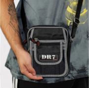 Shoulder Bag DR7 Street Preto/Cinza