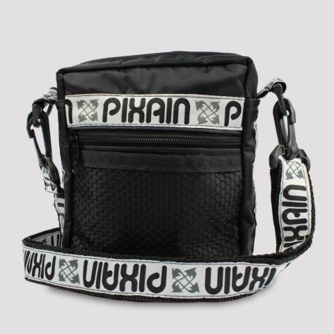 Shoulder Bag Pixa In Multilogo - Preto