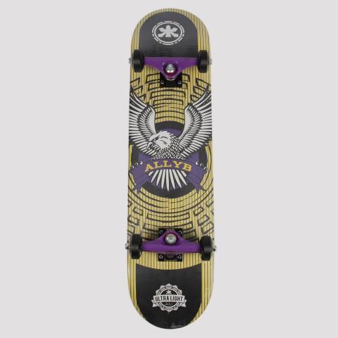 Skate Montado Allyb Águia - Amarelo/Roxo/Preto