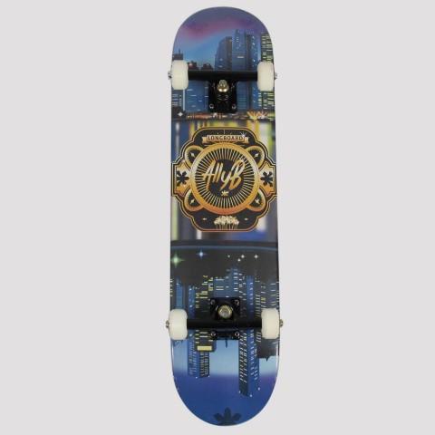 Skate Montado Allyb Cidade - Azul/Laranja