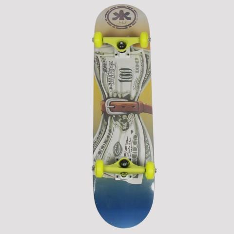 Skate Montado Allyb Dolar - Amarelo/Azul